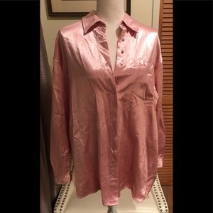Pink Shiny snap button shirt NEWPORT NEWS